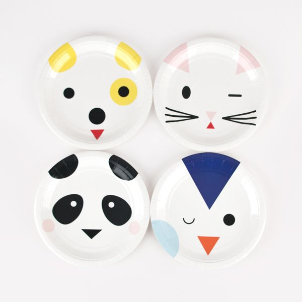8 petites assiettes - Mini animaux