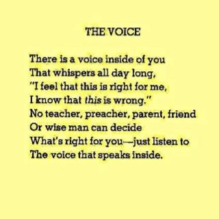 Life, Inspiration, Quotes, Menu, Listening, Voice Inside, Shel Silverstein, Shelsilverstein, The Voice