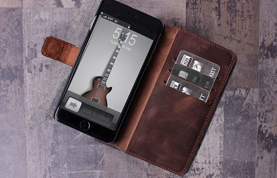 iPhone 6 Case Leather Wallet Groomsmen gift by ThestoryoftheFall