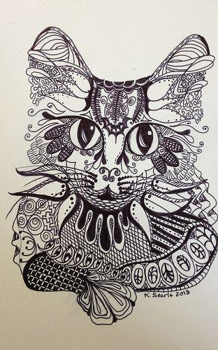 Cat Zentangle | Flickr - Photo Sharing!