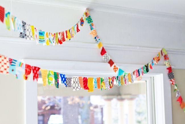 Super fun colorful bunting ~ Meg Duerksen