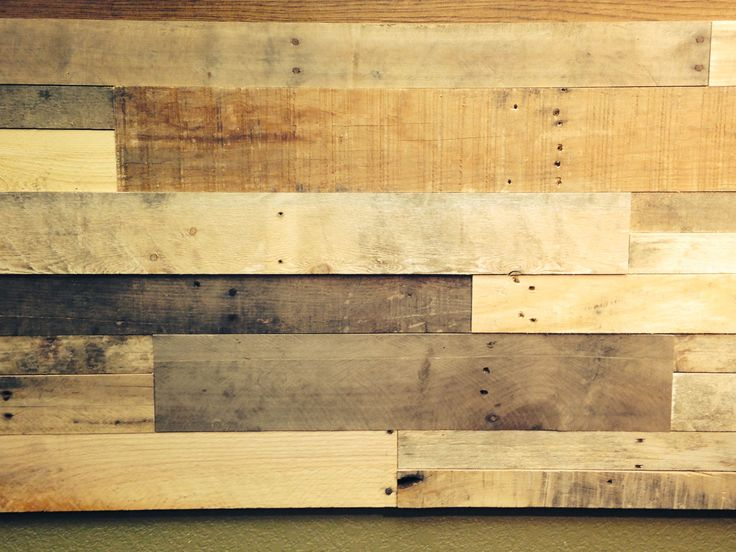 Simple head board this pallet pallet projects for Reclaimed pallet wood wall