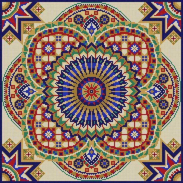 Kanaviçe büyük motif geometrik