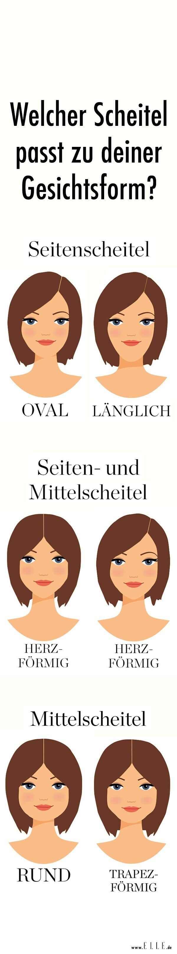 Ob in der Mitte geteilt oder zur Seite gescheitelt: Wo du deinen Scheitel tragen solltest, erfährst du ► auf ELLE.de!