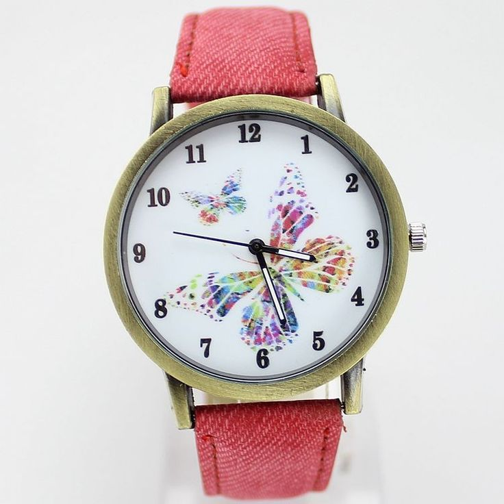 Hot Selling 6 Color Fashion Casual Watch Leather Strap Quartz Wrist watch Butterfly Retro Dress Women Watches Relojes Mujer 2016-in Fashion Watches from Watches on Aliexpress.com   Alibaba Group