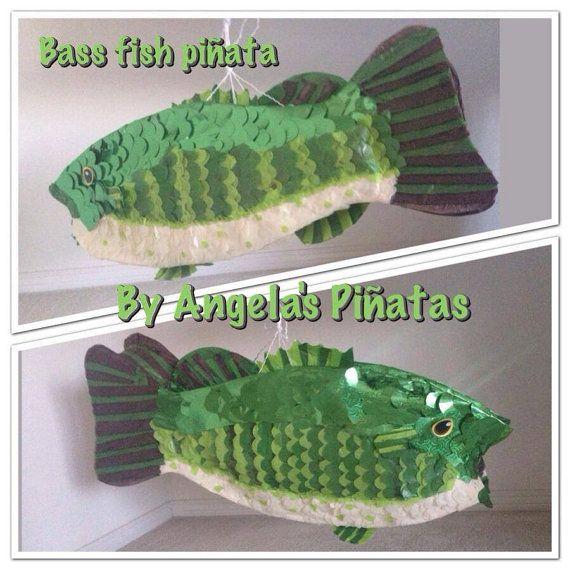 Fish Bass Piñata Custom Hand Made Pinata fish by angelaspinatas, Www.facebook.com/angelaspinatas