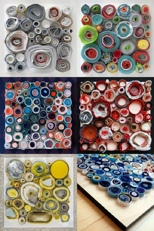 Arte con materiales reciclados • Art with recycled materials, by Lee Gainer