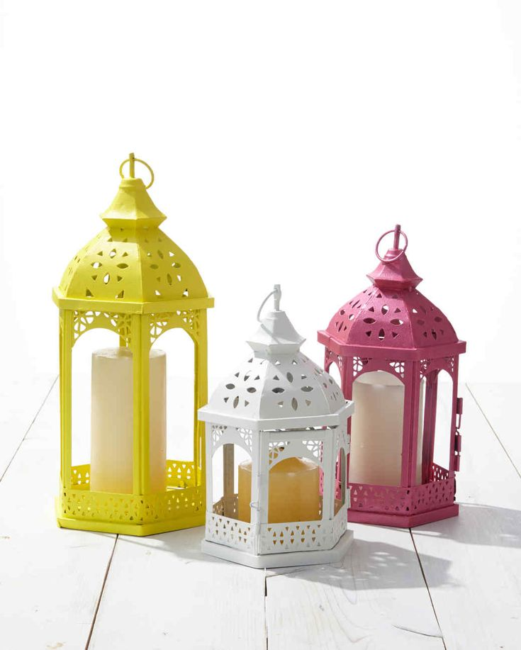 Painted Outdoor Lanterns
