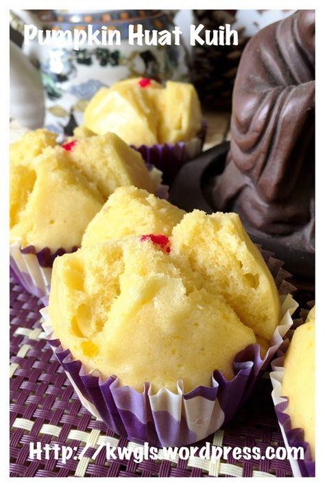 Steamed pumpkin muffins - Pumpkin Huat Kuih (金瓜发糕)#guaishushu #kenneth_goh #pumpkin_huat_kuih #金瓜发糕