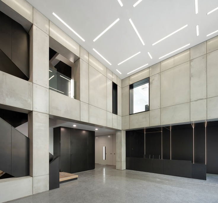 Mass Concrete Wall Design : The fa s former headquarters in soho square is an eight