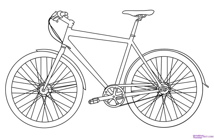 Large Image - Step 5. How to Draw a Bike