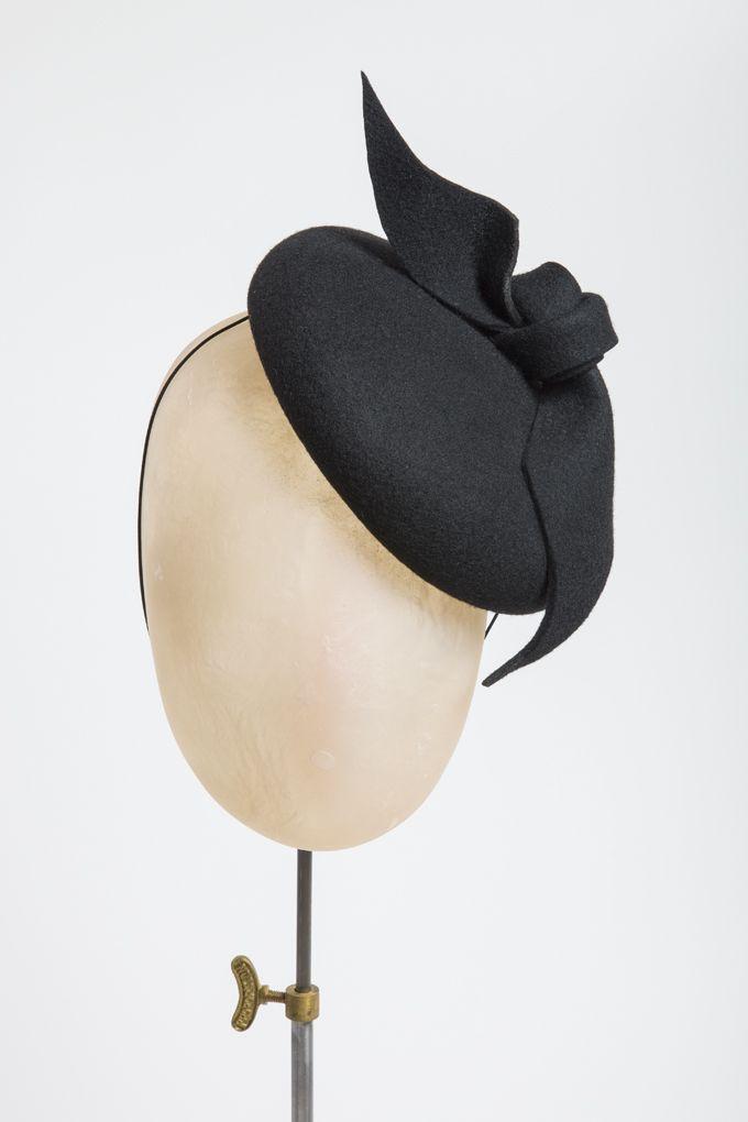 Rachel Black MIlinery, AW 2014 Click in black