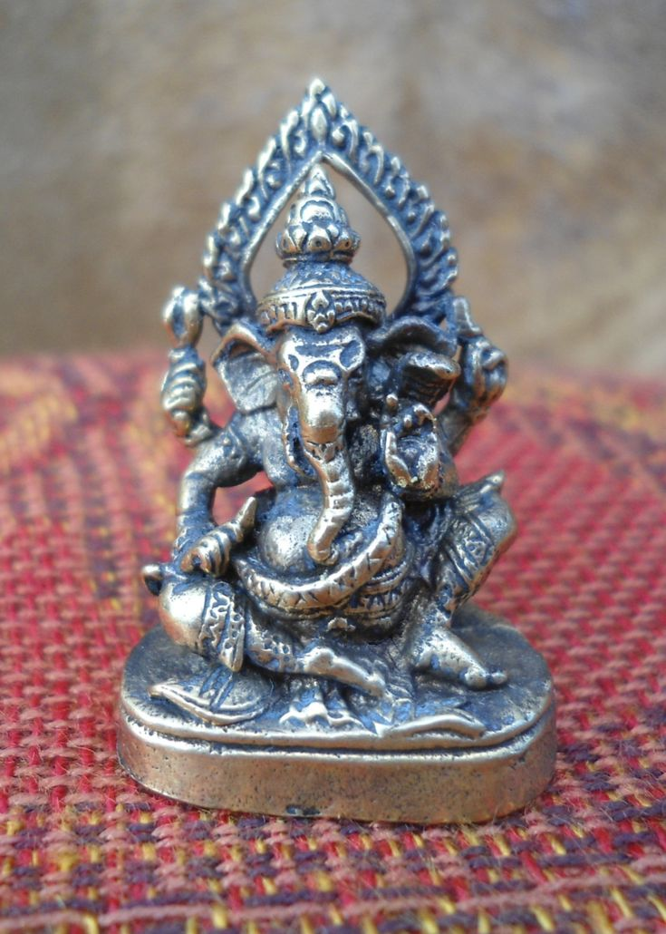 Ganesh Statue Meditation Altar Tiny Ganesha Statue Portable Altar Ganesh Statue  Pocket Shrine Hindu God Wisdom Wealth Success Gift Under 10 by SacredSymbolStudios on Etsy