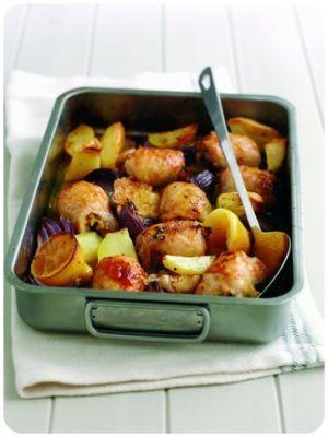 Lemon chicken tray bake  #recipes #familyrecipes #cooking #food