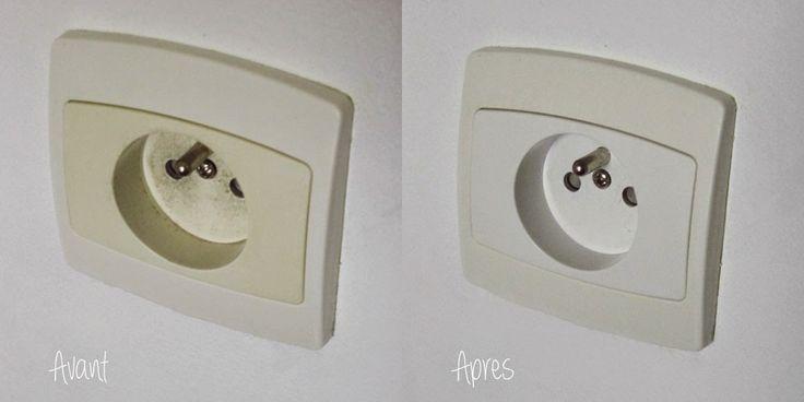 Retrobright interrupteurs avant-après