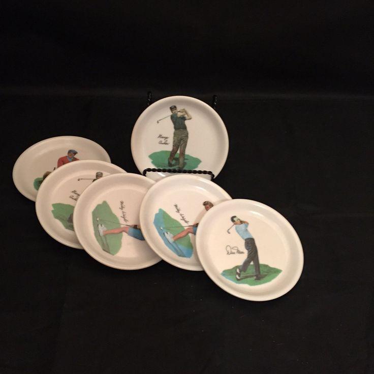 Vintage Wilson Golf Coasters Set 6 Melmac Golf Memorabilia by missenpieces on Etsy