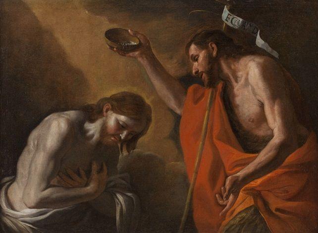Il battesimo di Cristo by Mattia Preti: