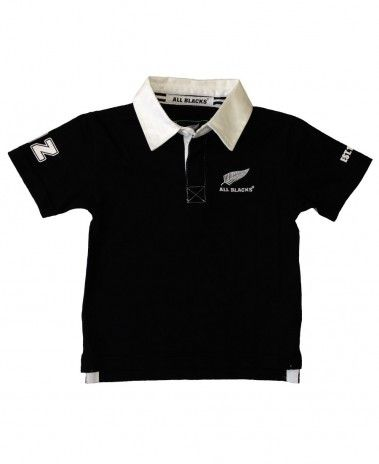New Zealand All Blacks Kids SS Rugby Shirt