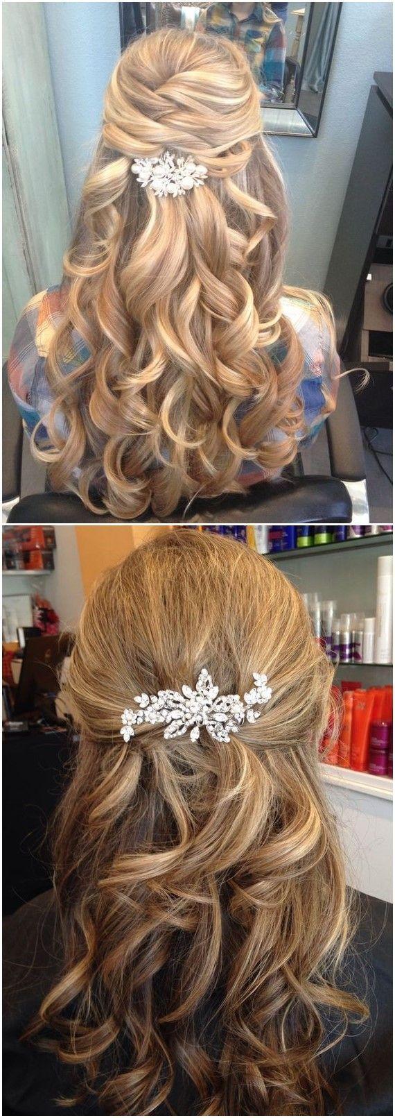 Hochzeit Frisuren »22 Half Up und Half Down Hochzeit Frisuren, um Sie Ins ..., #frisuren #hochzeit