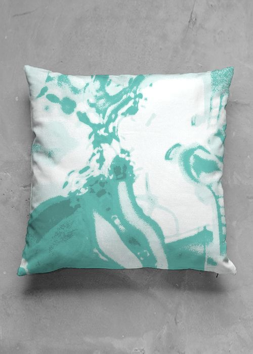 Light-green reflection - luxury pillow design by Charles Bridge 7x - buy in my VIDA e-shop    #luxurious#pillow#interior#interiordecor#art#artprint#fabricprint#sofa#spring#ocean#oceaninspiration#waves#water#waterart#artist