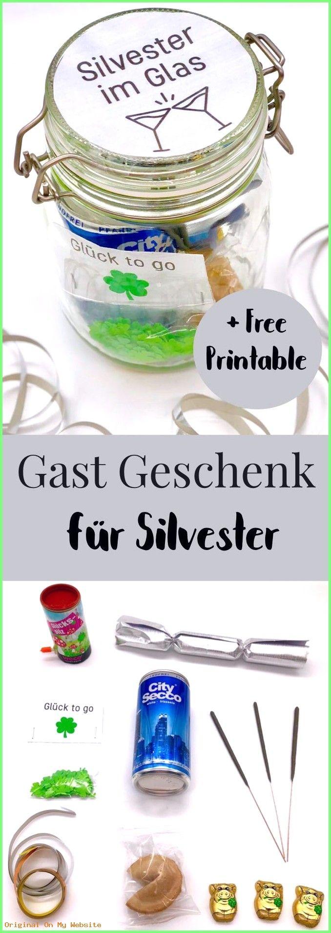 Handmade Gifts: DIY Ideen für Silvester. So macht Ihr Euch das ideale Gast Geschenk oder Mitb…