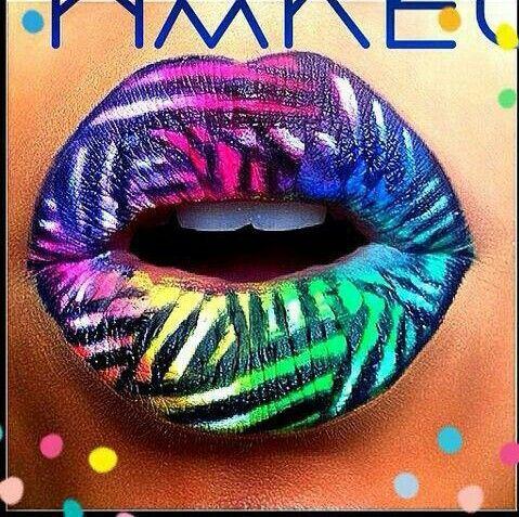 Rainbow Zebra Lips