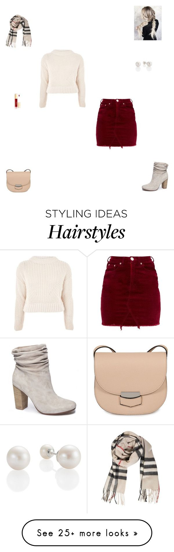 """December"" by synclairel on Polyvore featuring Topshop, Chinese Laundry, Burberry, CÉLINE, Fall, cute, casual and ootd"