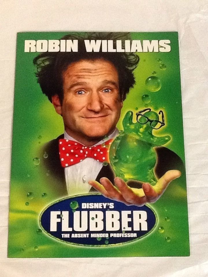 Flubber Robin Williams Movie Press Kit Folder Notes Marcia Gay Harden 1997 #RIPRobinWilliams