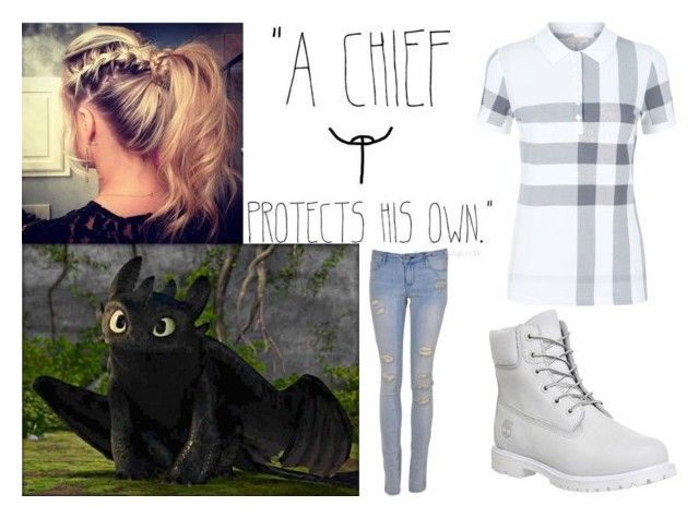 """Hicca Rose Haddock the Third: HTTYD OC - Modern Viking"" by annabellewren ❤ liked on Polyvore featuring Timberland, Burberry and modern"
