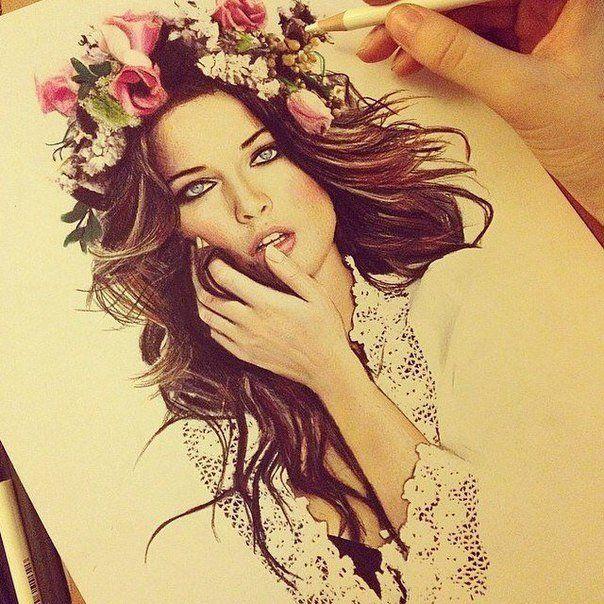 Красивые портреты карандашом