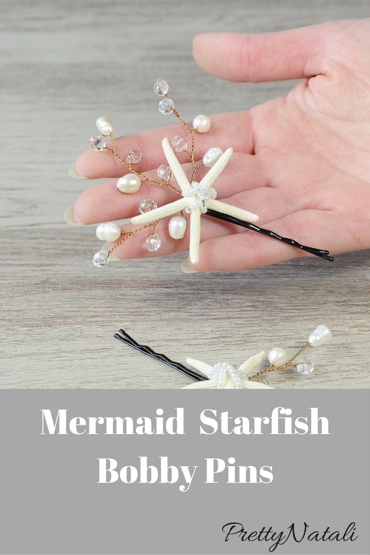 Beach Wedding Starfish , crystals and freshwater pearls Bobbie Pin Set. Nautical Wedding Hair Pins. Perfect for a Destination beach wedding, or just to add a touch of pretty. Beach Wedding Bobby Pins, Starfish Freshwaterpearls Bobby Pin Set, Nautical Wedding Hair clips, Destination Wedding Headpiece, shell barrete, mermaid hair pins #beachwedding #beachbride #bridesmaidhair #beachheadpiece #starfishheadpiece