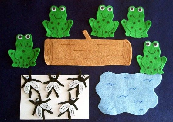 F - Five Green Speckled Frogs