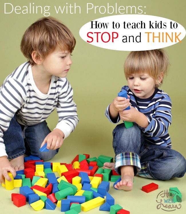 This is such a great idea!! AND so simple! Teach kids to stop and think before dealing with a problem with this ONE trick!