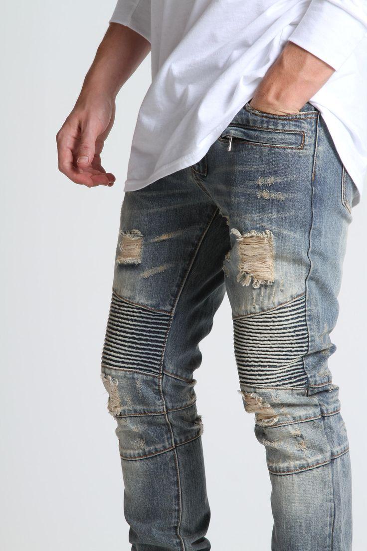 Embellish biker jeans dope ! ! $140