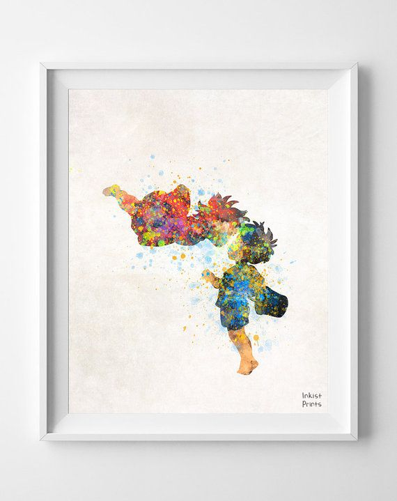Ponyo Art Poster Print Watercolor Illustration by InkistPrints, $11.95 - Shipping Worldwide! [Click Photo for Details]