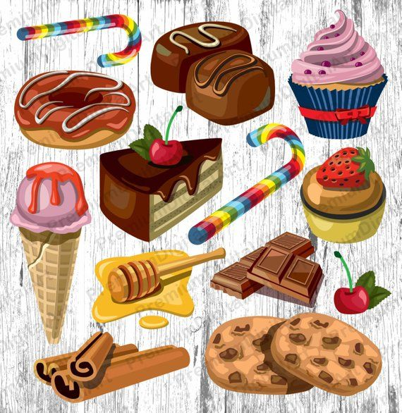 13 Bakery Sweets Clipartcupkake Clipcandy Clipart Fruits Etsy In 2021 Sweets Clipart Food Clipart Candy Clipart