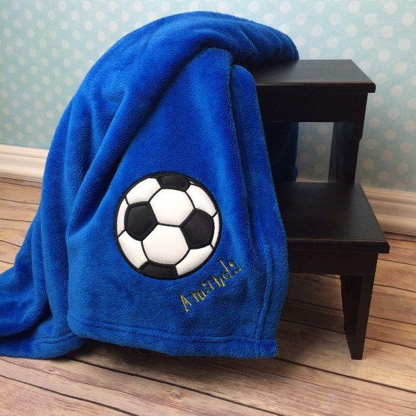 Soccer Blanket Personalized Applique Blanket Soccer Ball