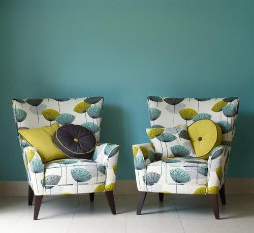 retro upholstered chairs by constance