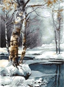 The Winter Landscape Cross Stitch Kit B560