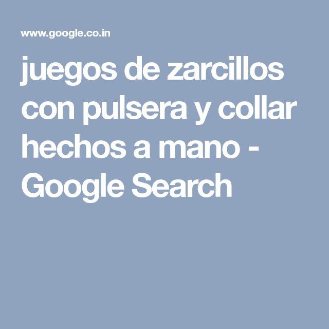 juegos de zarcillos con pulsera y collar hechos a mano - Google Search