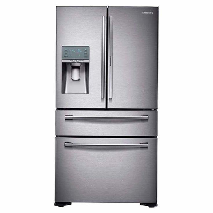 Samsung RF22KREDBSG 36 Inch Wide 22 cu. Ft. Counter Depth 4-Door French Door wit Stainless Steel Refrigerators French Door Fridge
