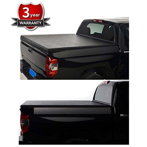 """Gevog Black Soft Roll-Up Tonneau Cover Fit 2009-2017 Dodge Ram 1500, 2010-2017 Dodge Ram 2500/3500 6.5' (74.6""""-76.3"""") Fleetside Bed Truck Bed Cover  Fitment: 2009-2017 Dodge Ram 1500 Pickup, 2010-2017 Dodge Ram 2500/3500 Pickup. 6.5 Feet (74.6""""-76.3"""") Fleetside Bed Only (Not Fit Ram Box Models)  Made from tear-resistant double sided 24oz vinyl which is the highest standard in the industry  Top-Mount Style -- The cover sits on top of the bed rails for improved water runoff and minimal b..."""