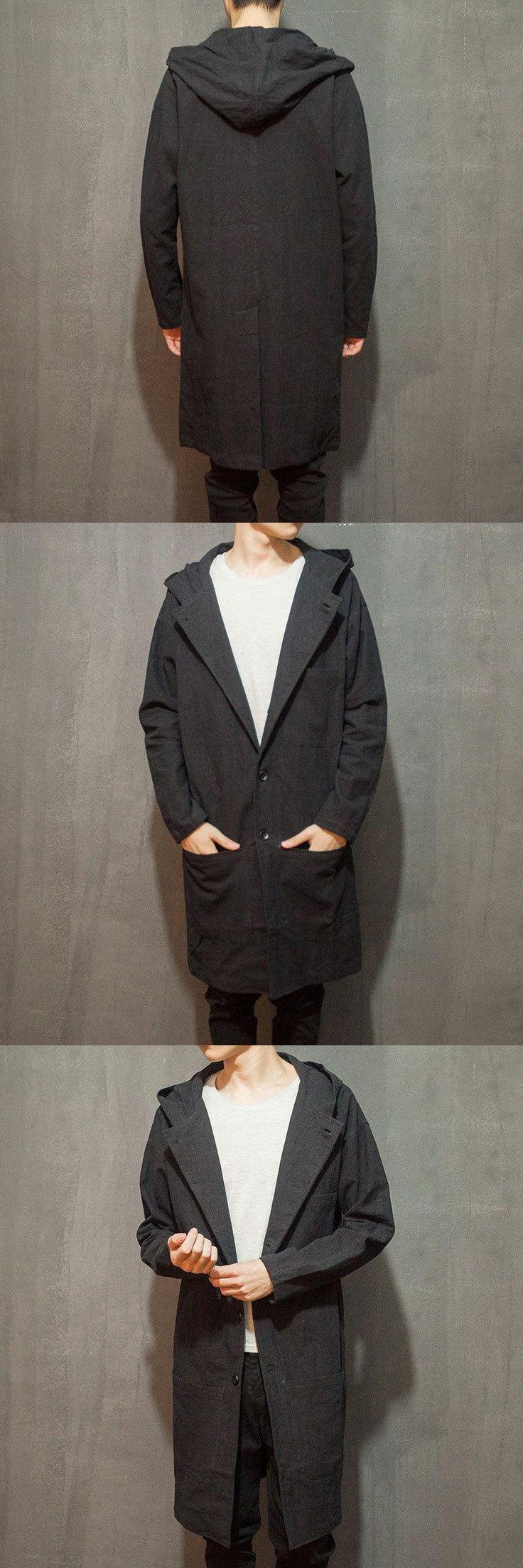 2017 Mens Overcoat Trench Coat The Original Design Of Autumn Coat Male Cardigan Long Chinese Youth Wind Line Cloak Of Hanfu