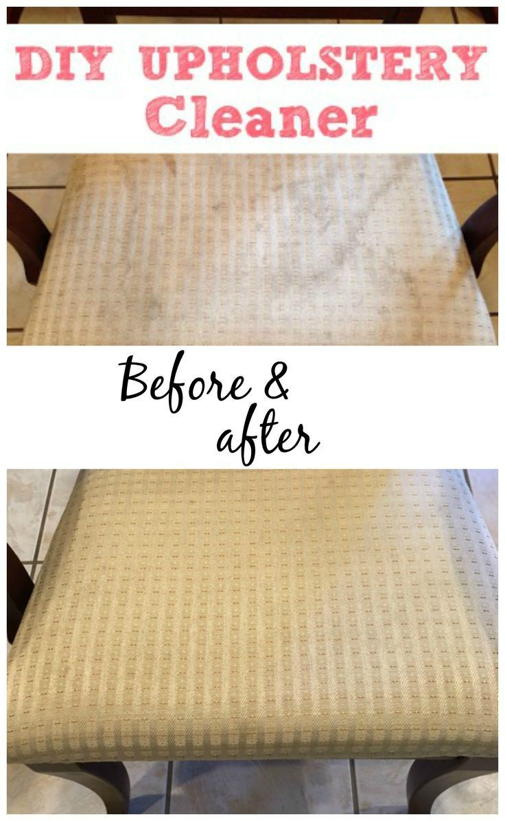 Get the stains out of your furniture with this simple DIY Upholstery Cleaner. It