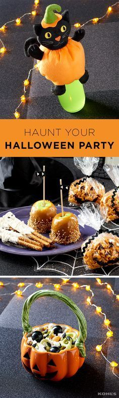 Take this year's Halloween party to the next level with little touches that make all the difference. Your guests will love this adorable pumpkin dish and serving plates (especially when there are tasty treats on them). Shop Halloween party supplies at Kohl's. #halloweenpartysupplies