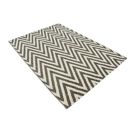 George Home Grey Chevron Rug - Various Sizes | Home & Garden | George at ASDA