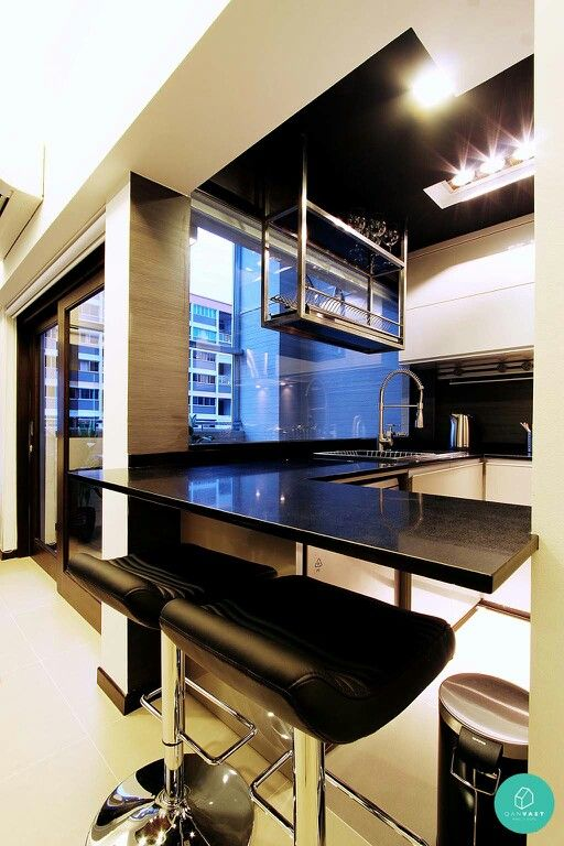 suspended dish rack from ceiling