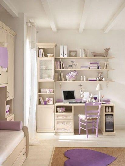 Camerette Arcadia    Scrivania per bambini finitura Magnolia e Glicine   Colombini
