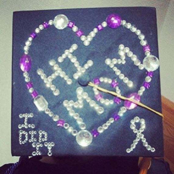 Claire decorated her graduation cap in honor of her late mother. Who are you making proud today? #wsu13 | Winona State University