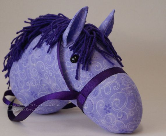 Mystical Purple Stick Horse Head with Glitter as Minimus!